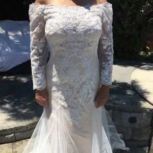 Diamond White & Champagne Wedding Gown